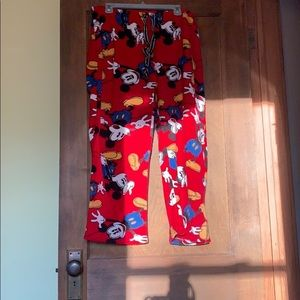 Mickey Mouse pajama pants!
